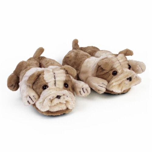 Dog Slippers Adult /& Kids Sizes In Stock Bulldog Animal Slippers