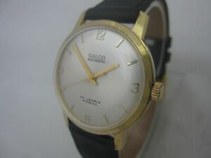 NOS-NEW-SWISS-MADE-SPECIAL-GOLD-PL-GALCO-AUTOMATIC-WATCH-1960-039-S