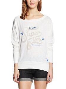 sports shoes e9090 189f4 Details zu J4638 Superdry Damen Oversize Langarmshirt Shirt Longsleeve (XS,  Weiß)