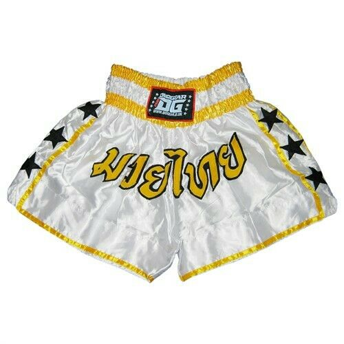 DUOGEAR LITE WHITE FIGHT TRAINING COMPETITION SHORTS Kids - Adults