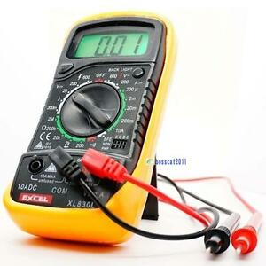 Digital-Voltmeter-Ammeter-Ohmmeter-Multimeter-Volt-AC-DC-Tester-Meter-XL-830L-X1