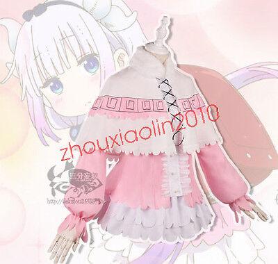 Anime Miss Kobayashi's Dragon Maid Kanna Kamui Cosplay Clothing T shirt Cos Prop