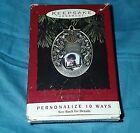 Anniversary Year Personalize 10 Ways Hallmark Keepsake Ornament 1994