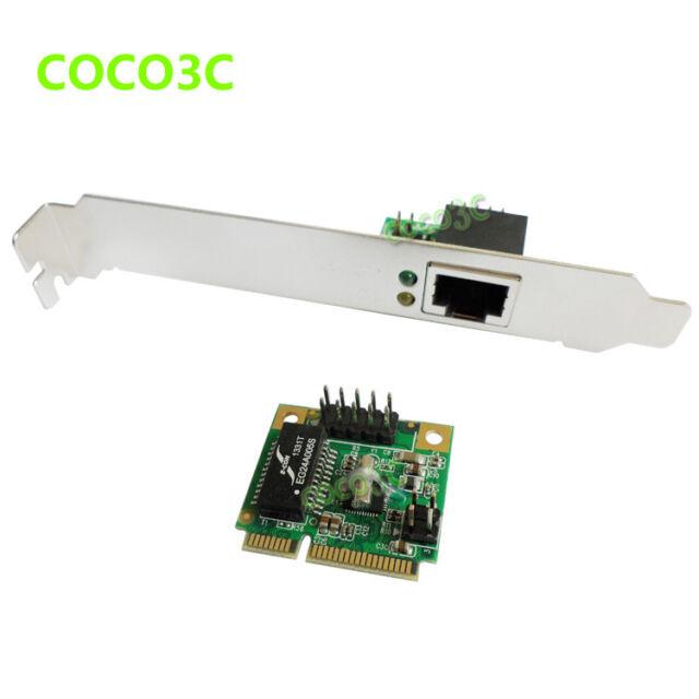 Mini PCIE to Gigabit Ethernet Network Lan Card 10/100/1000 Base-T + RJ-45 Port