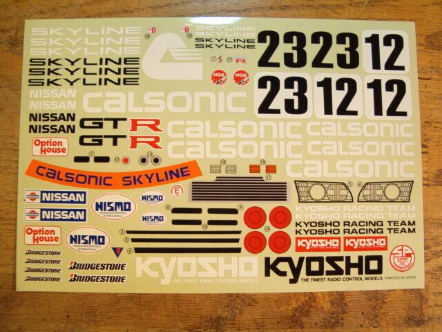 Hoja de calcomanías OR-54 - Kyosho Nissan Skyline GT-R Optima mediados/Lazer coches escala