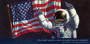 Alan Bean AMERICA'S TEAM,JUST THE BEGINNING Neil Armstrong Artist signed Poster