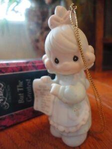 Precious-Moments-Figurine-Greatest-of-These-Love-1992-527696-Dear-Santa-Orn-MIB