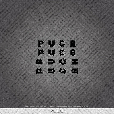 Decals 07233 Puch Bicycle Stickers Transfers Black