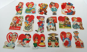 Antique-Valentine-Collection-17-Piece-Estate-Lot-Americard-Hallmark-Germany-USA