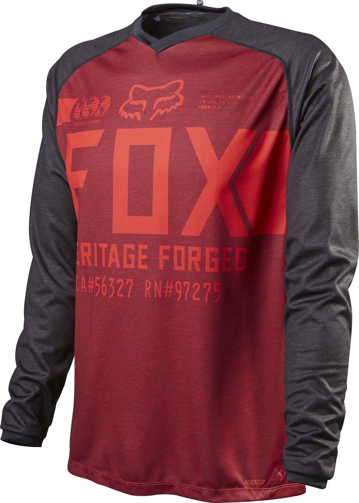 Fox Racing Indicator LS lungo Sleeve Jersey Heather rosso