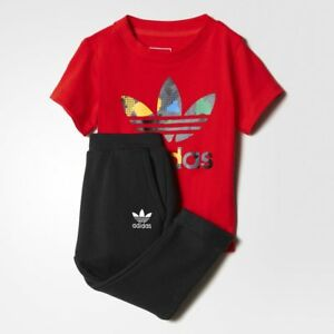 d64ad59f68b5 Adidas Originals Infant YWF Crew Full Tracksuit Kids Children Full ...