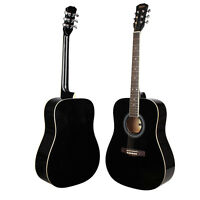 New 41 Inch Rosewood Fingerboard Adult Size Classical Acoustic Guitar Black
