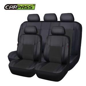 Premium-Universal-Car-Seat-Covers-Leather-Black-For-Boy-Girls-Split-Rear-40-60