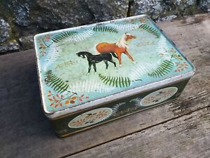 Collectable-Vintage-c1960-039-s-CWS-Manchester-2lb-Biscuit-Tin-Ponies-Design