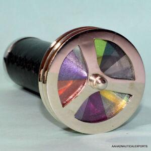 Vintage-Collectible-Brass-Kaleidoscope-Maritime-Double-Wheel-Pocket-Gift