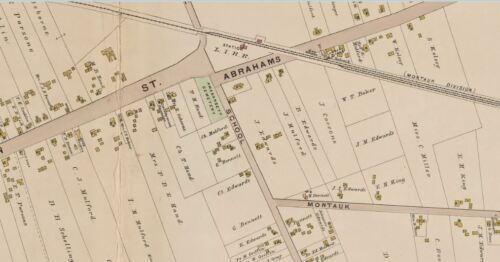 1902 E AMAGANSETT SUFFOLK COUNTY BELCHER HYDE LONG ISLAND NY COPY ATLAS MAP