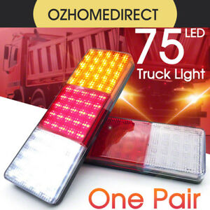 2X-12-24V-75-LED-Tail-Lights-Ute-Trailer-Caravan-Truck-Boat-Stop-Indicator