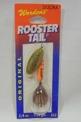 Wordens Yakima Bait 1//4 oz Crawdad Rooster Tail Spinner Fishing Lure