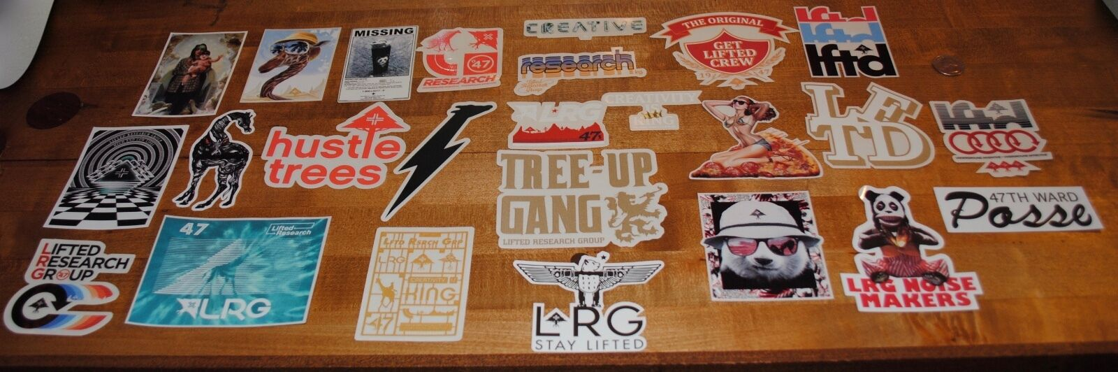 Lot of 25 LRG Lifted Research Group Decals Free Shipping   Supreme  on sale 70% off