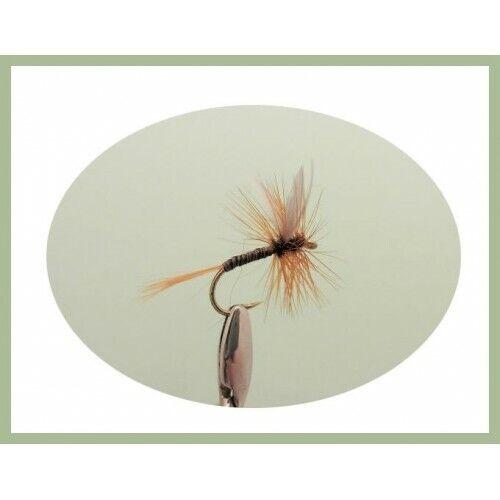 choix de tailles les mouches de pêche Mouches sèches Dry Truite Mouches pack de 6 ginger quill