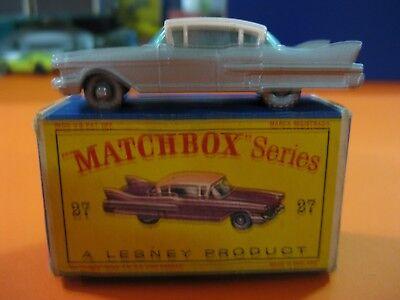 Brioso Vintage Matchbox Lesney Nº27 Cadillac Sedan Sixty Special-ruedas Plateadas-raro Prezzo Più Conveniente Dal Nostro Sito