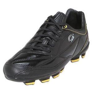 d7597ecfd PELE SPORTS 1958 FG MS Black Yellow Soccer Football Shoes 40