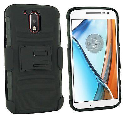 more photos b7237 a8bea For Motorola Moto G4 / Moto G4 Plus Case w/ Belt Clip Holster ...
