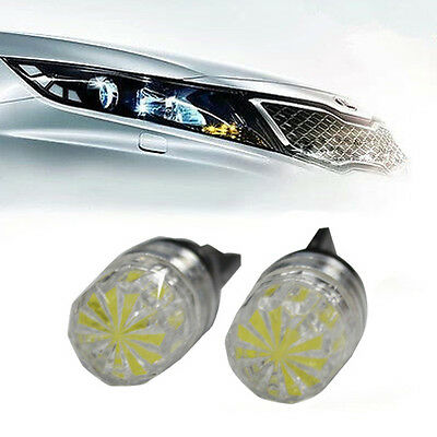 2x 501 W5W T10 HIGH POWER XENON PURE WHITE SIDELIGHT WEDGE LED BULBS