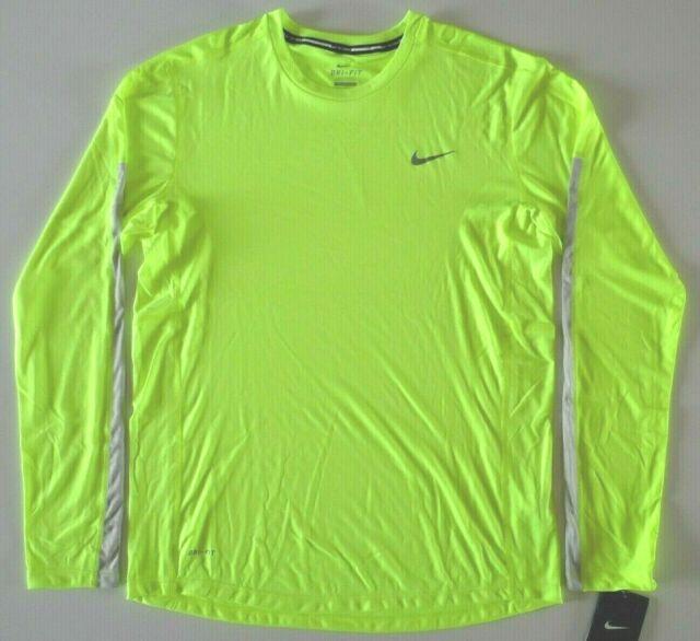 744710-687 Nike Mens Miler Dri-Fit Running Shirt