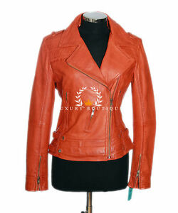 Amelia Orange Women's Ladie's New Biker Style Fashion ...