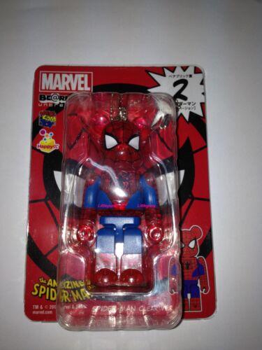 Be@rbrick Bearbrick Marvel The Avengers Super Hero Spiderman Clear Ver 100/% No.2