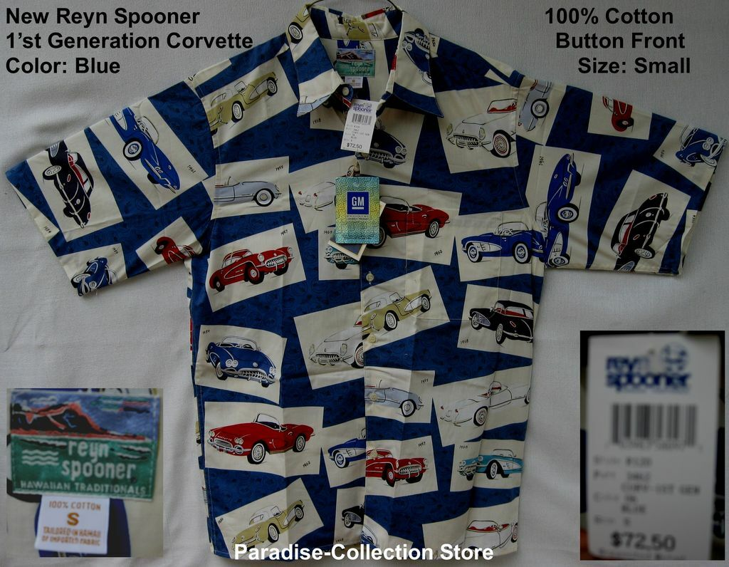 NEW  REYN SPOONER BEAUTIFUL COLLECTIBLE CORVETTE FIRST GENERATION GM LICENSED S