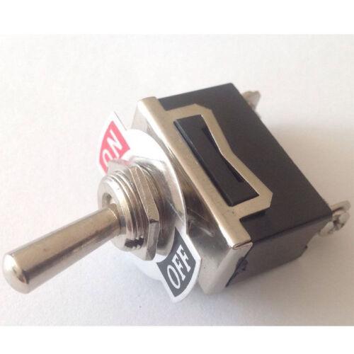 5pcs 12V Heavy Duty Toggle Flick Switch ON//OFF Car Dash Light Metal Ze