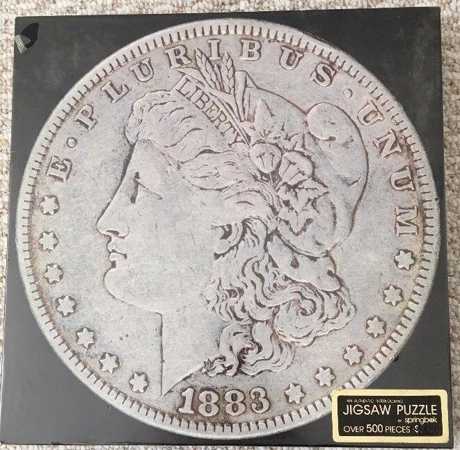 Jahr A springbok Jigsaw Puzzle 500PCS  Silber Dollar 1883  (New)