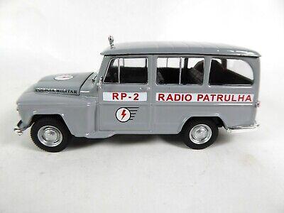 Ordinato Willys Rural Police Brésilienne - 1/43 - Ist Voiture Miniature Diecast Pm40 Perfetto Nella Lavorazione