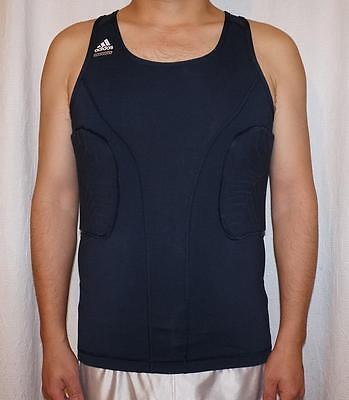 Adidas Techfit Power Mens Compression Tank Top Muscle Shirt Armpit Shirt Neon