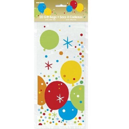** 20 brillants or VIOLONCELLE CADEAU sacs fête d/'anniversaire Adulte Ageless Traiter Goody