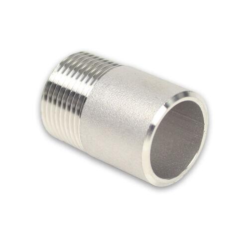 verschiedene Größen Edelstahl Gewindefitting Anschweißnippel AG Werkstoff V4A