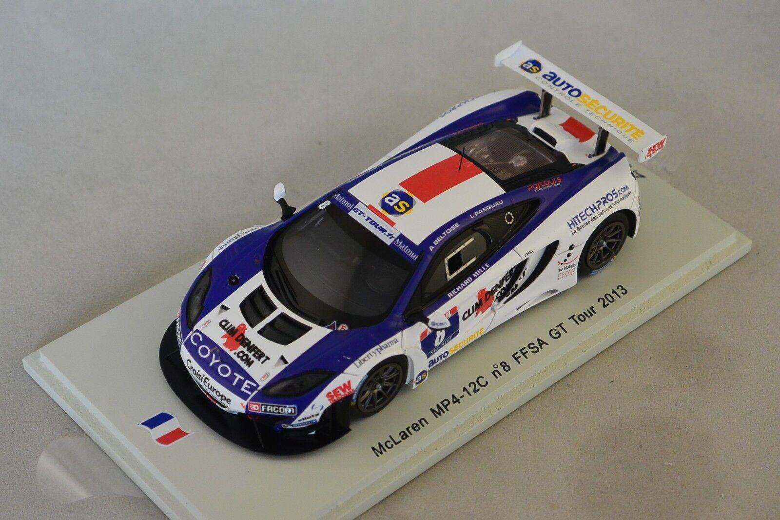 Spark sf066 mclaren mp4 12c loeb racing no. 8 gt tour 2013 A. beltoise 1 43