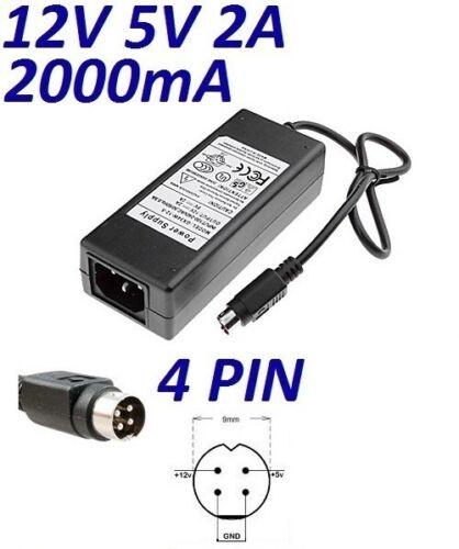 Cargador Corriente 12V 5V 2A 4 PIN Reemplazo Disco Duro LACIE D2 Quadra 500GB