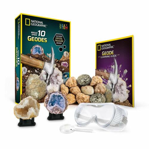 National Geographic Break Open 10 Premium Geodes with Googles and Guide