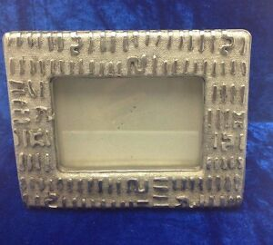 Image Is Loading Brushed Nickel Silver Metal Photo Frame New Textured