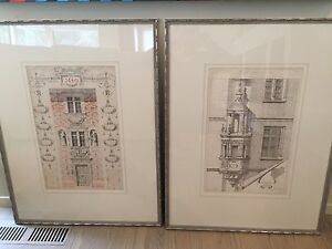 Antique Architectural Prints A Pair