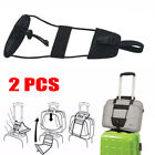 2X Add A Bag Strap Travel Luggage Suitcase Adjustable Belt Carry On Bungee Strap