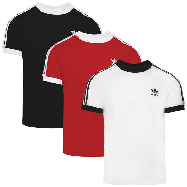 Adidas 3 Stripes Tee Women Damen Originals Short Sleeve Shirt Sport T-Shirt