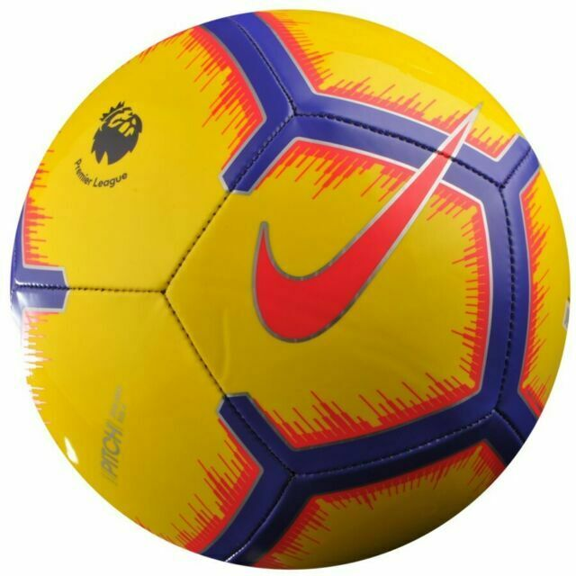Nike Premier League Pitch Size 5 Yellow Soccer Ball For Sale Online Ebay