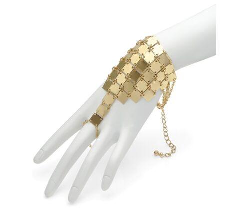 Gold Chain Mail Style Ring Bracelet Fancy Dress Retro Women Girls Jewellery UK