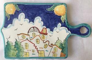 Sottopentola tagliere in ceramica vietrese decorata a mano ceramica
