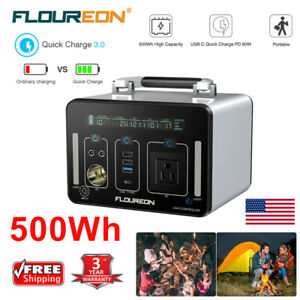 Outdoor-500Wh-Solar-Power-Generator-Energy-Station-AC-DC-USB-Charger-Inverter