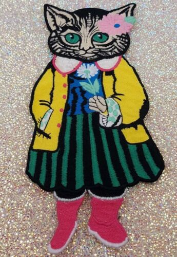 Fashion//Cat Lady patch//Sew on patch//Embroidered Patch//Tattoo patch//Applique//cat